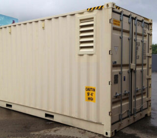 ventilated container for shipping