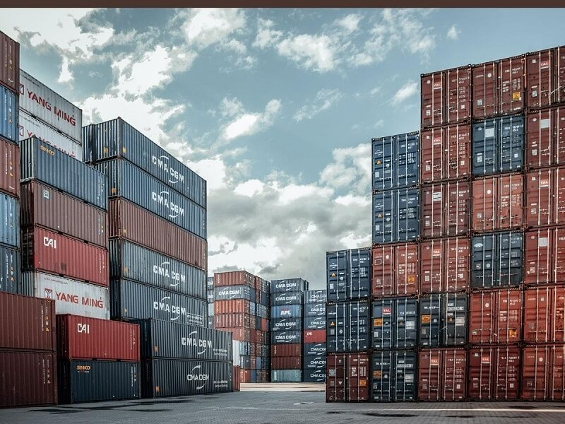 Container on port